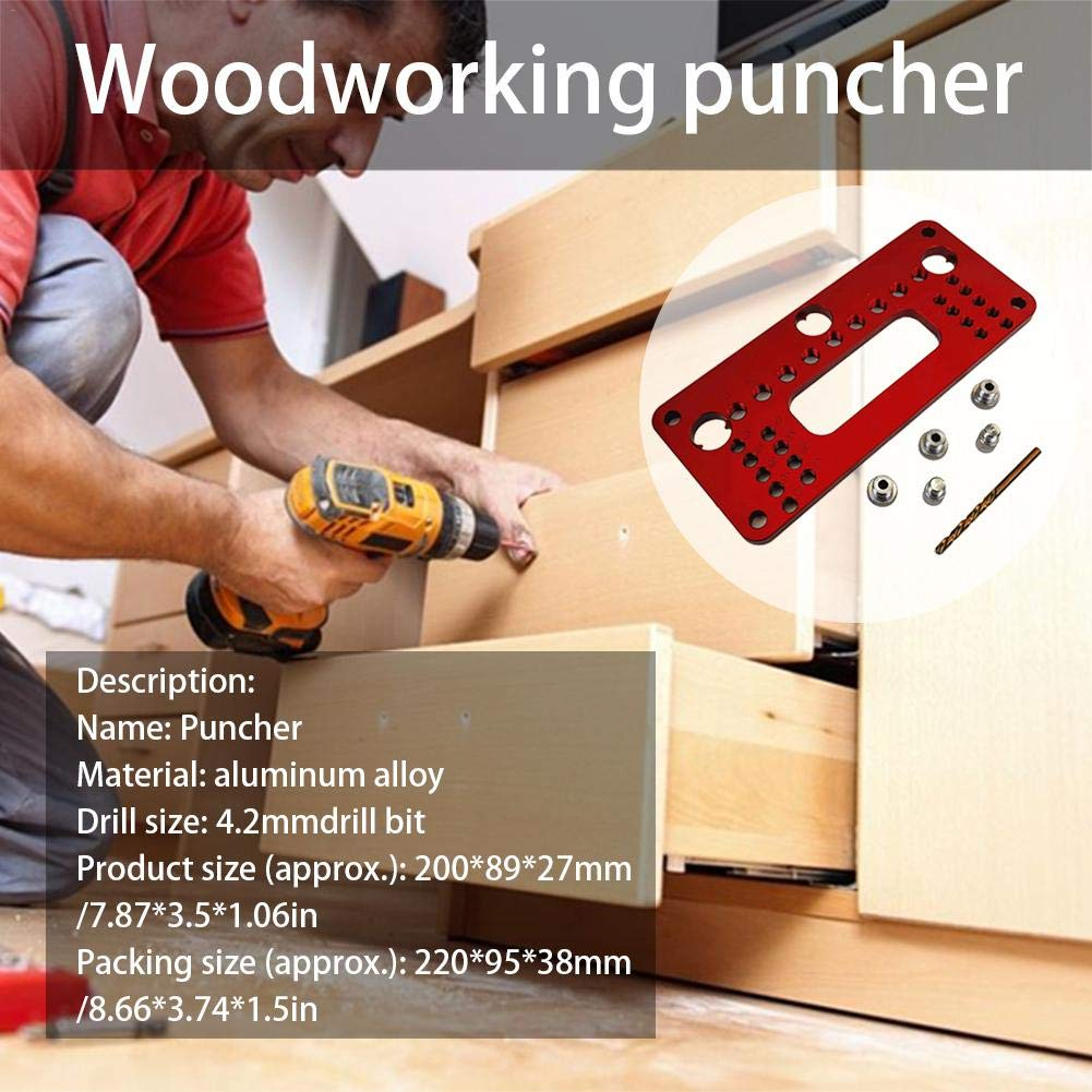 Meetforyou Woodworking Puncher Door Handle Hole Locator Woodworking Tools DIY Tools Handmade Kit