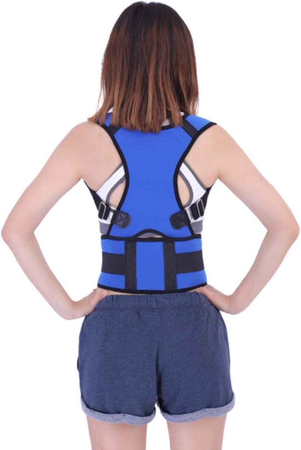 Corrector de postura de clavícula Cinturón de soporte de espalda Vendaje de hombro Corsé Espalda Ortopédica Escoliosis Rugbrace Protección de espalda