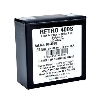 Rollei Film Accessories Retro 400S 400 ISO, 35mm x 100: Amazon.co.uk ...