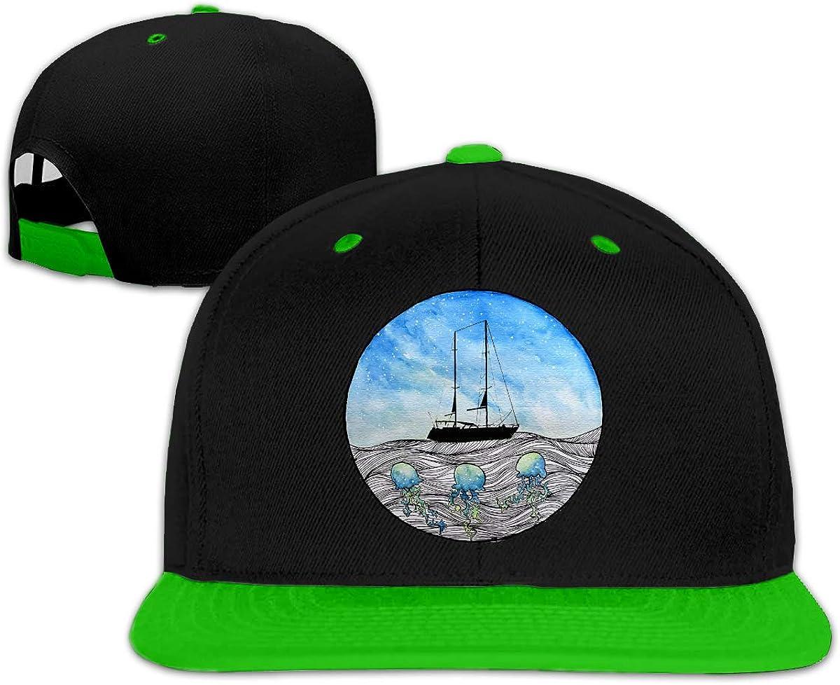 Wangx-4 Ship and Octopus Adjustable Baseball Cap Dad Hat