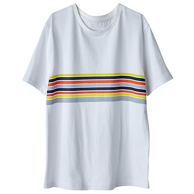 1e224fe1f3d386 Amazon.com: La Redoute Collections Womens Striped T-Shirt White Size Xl:  Clothing