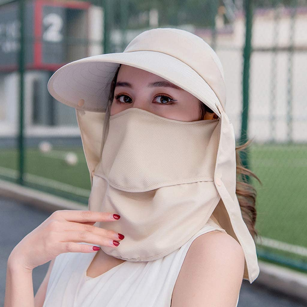 Coohole Womens Cycling Cap Double Layer Multifunction Windproof Dustproof UV Protection Breathable for Summer Outdoor Cycling Hiking
