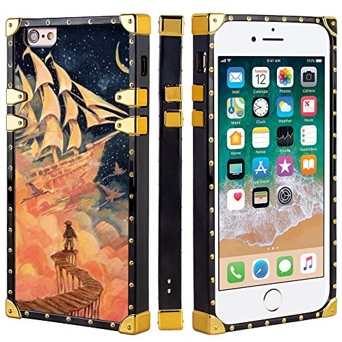 DISNEY COLLECTION Case for iPhone 6 Plus, iPhone 6S Plus, iPhone 6 Plus/6S Plus Luxury Square Edges Phone Cover Shockproof Protection PC + TPU Shell - I'm Still Here Carrie Liao, Treasure Planet