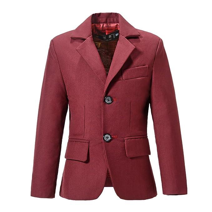 Amazon.com: yuanlu Boys vestir trajes Blazer Kids single ...