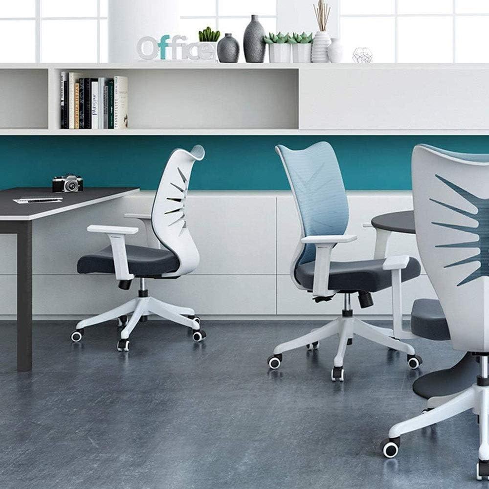 SMLZV Fauteuil de Bureau Ergonomique, Chaise de Bureau d\'ordinateur, réglable à Dossier Haut avec accoudoirs, Support Lombaire (Color : Gray) Gray