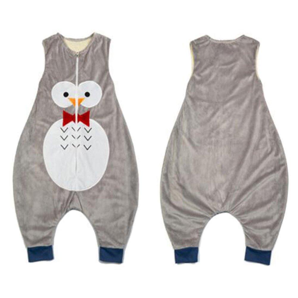 3fbc00f8c ZEEUAPI - Saco de dormir con piernas de franela para bebés niños infantíl  Ropa para dormir (L (5-6 años), Gris-Búho): Amazon.es: Hogar