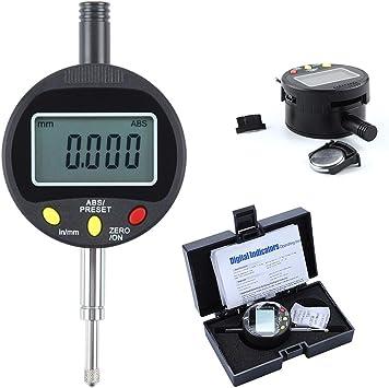 SPEDGSDW Hohe qualit/ät Elektronische Digitale messuhr 0,001mm Digitale messuhr Metric//Inch Bereich 0-50,8mm//2 Zoll