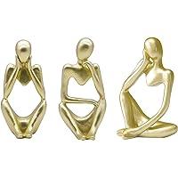 LOVIVER 3x Estatueta de Pensador Novidade Artesanato Estátuas de Homem Pensante Enfeites Decoração