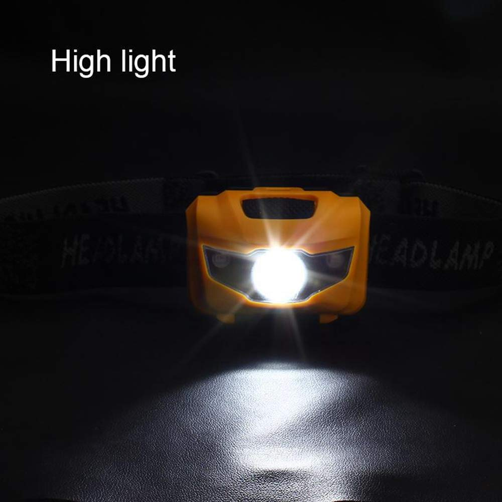 Fishing Super Bright 122 Lumens LED Headlight for Kids/&Adults Lightweight COB Headlamp with 3 Modes Running IPX6 Waterproof Hiking WXCCK LED Head Torch Camping