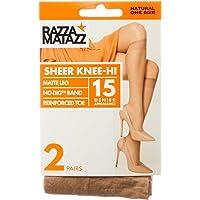 Razzamatazz Women's Pantyhose 15 Denier Value Knee Hi's (2 Pack)