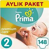 Prima Bebek Bezi Premium Care 2 Beden Mini Aylık Paket 148 Adet