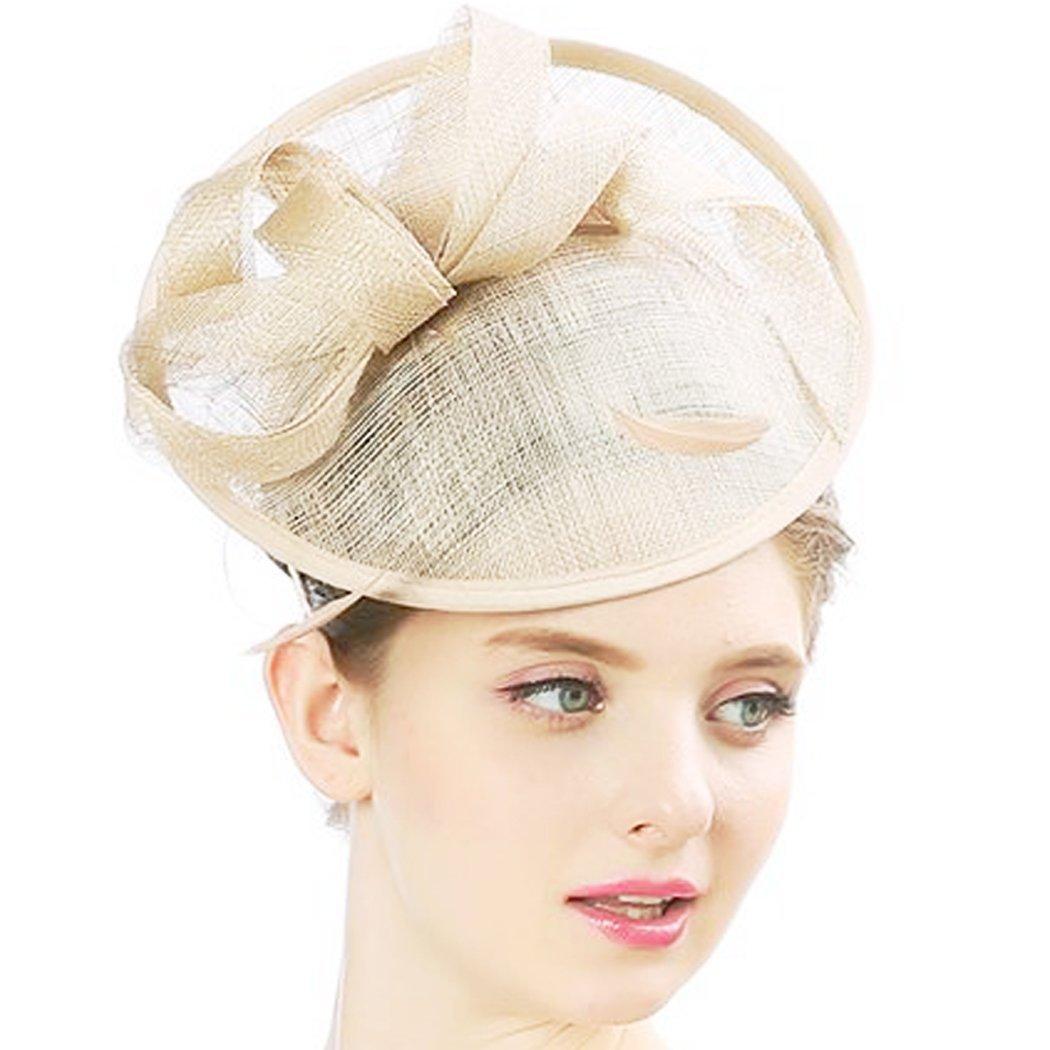 KAXIDY Damen Hut Hochzeit Fascinator Haarspangen Gaze Blume Braut Cocktail Hut Formale Partei Kirche