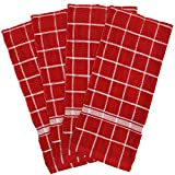 Red Kitchen Decor DII 100% Cotton, Machine Washable, Ultra Absorbant, Basic Everyday 16 x 26