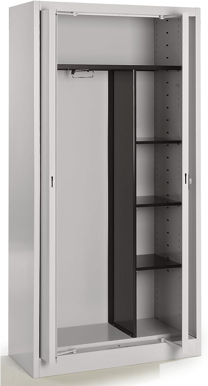 Mauser armario metálico con puertas escamotables – Perchero (3 ...