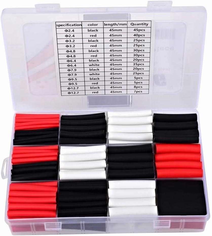 100/Pieces Heat Shrink Tubing Colour:Black