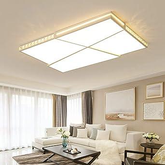 leohome Crystal Modern LED techo para salón dormitorio ultra ...