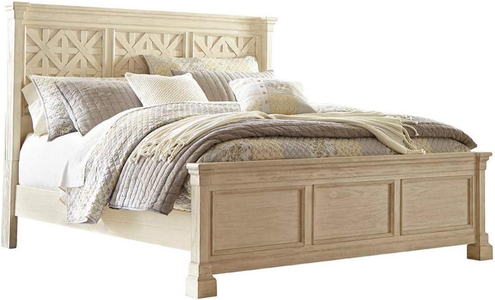 Ashley Furniture Signature Design - Bolanburg King/Cal King Panel Headboard - Component Piece - Antique White