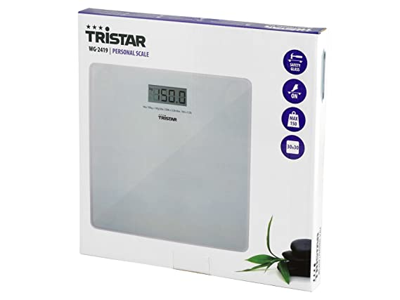Tristar WG-2419 - Báscula de baño (máx. 150 kg, precisión 100 g): Amazon.es: Salud y cuidado personal