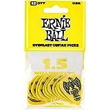Ernie Ball P09195 Ernie Ball 1.15 mm Everlast Picks 12 Pack, Yellow, Yellow, 1.5 mm