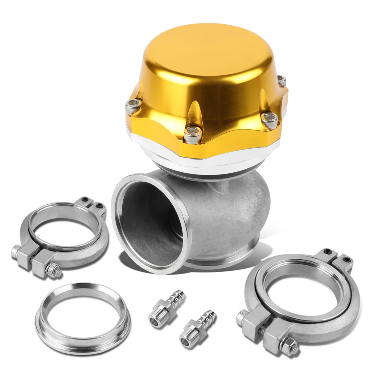 50mm V-Band 20-PSI 5.25 External Turbo Exhaust Manifold Wastegate Gold