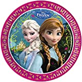 Disney Frozen Elsa & Anna Girls Paper plate - fuchsia