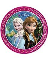 Disney La Reine des neiges Fille Assiettes en carton - fushia