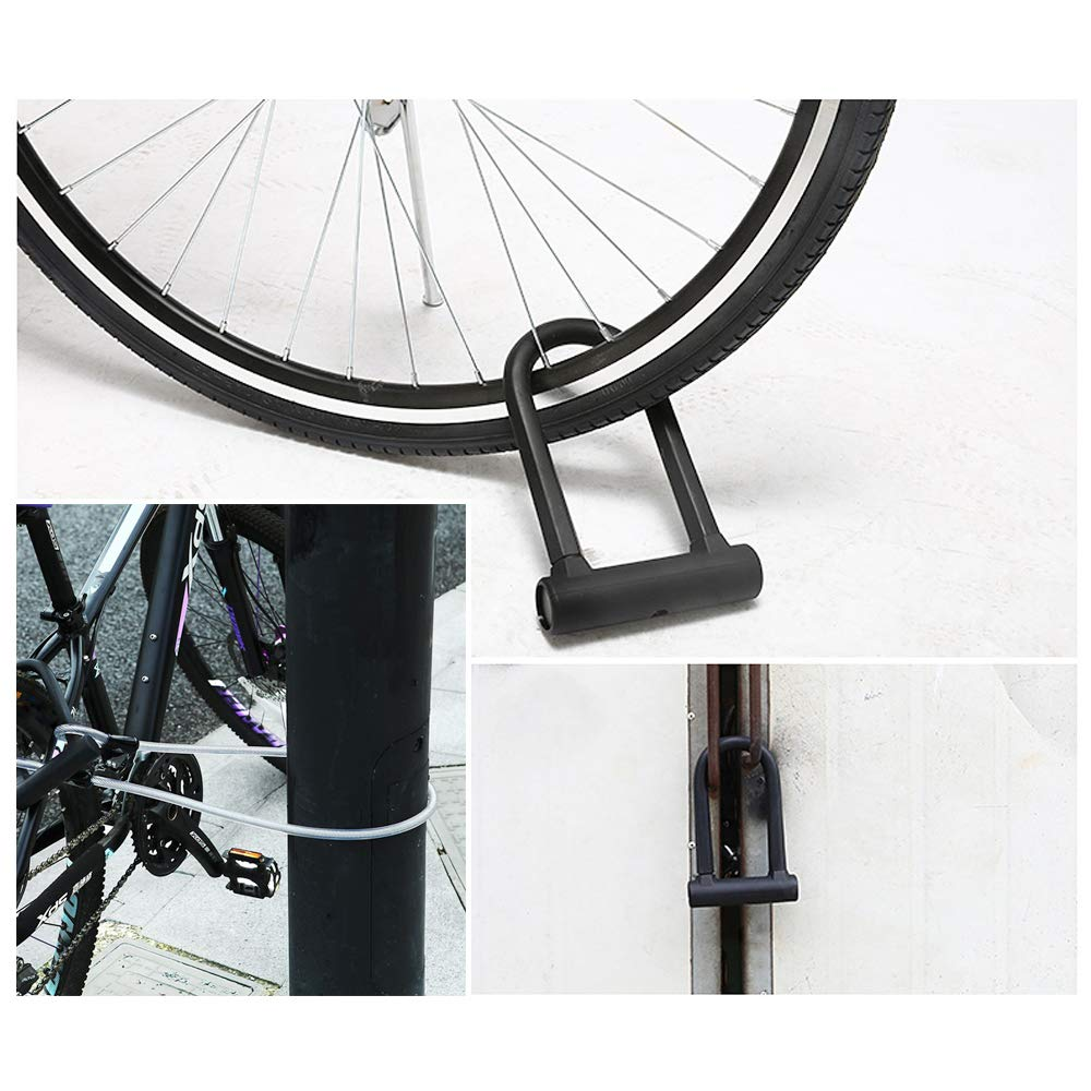 JGRZF Bike Lock,Bike U Lock Heavy Duty Bicycle U Lock,4FT Length Security Cable with Sturdy Mounting Bracket for Bikes,Bicycle,Motorcycle,Folding Bike and More