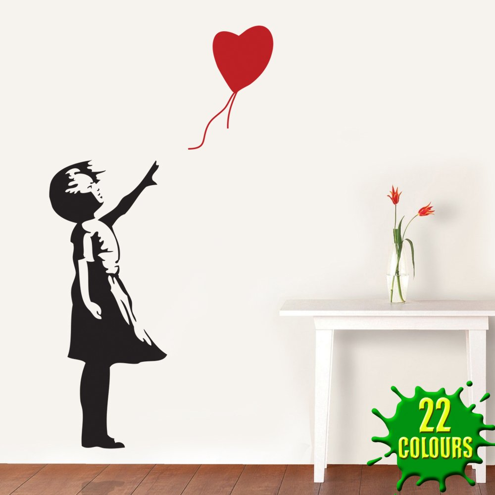 Banksy Heart Balloon Girl   Wall Decal Sticker Lounge Living Room Bedroom  (Small): Amazon.co.uk: Kitchen U0026 Home Part 97