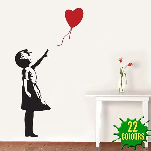 2 opinioni per Wondrous Wall Art- Adesivo da parete Bansky, bambina con palloncino a cuore