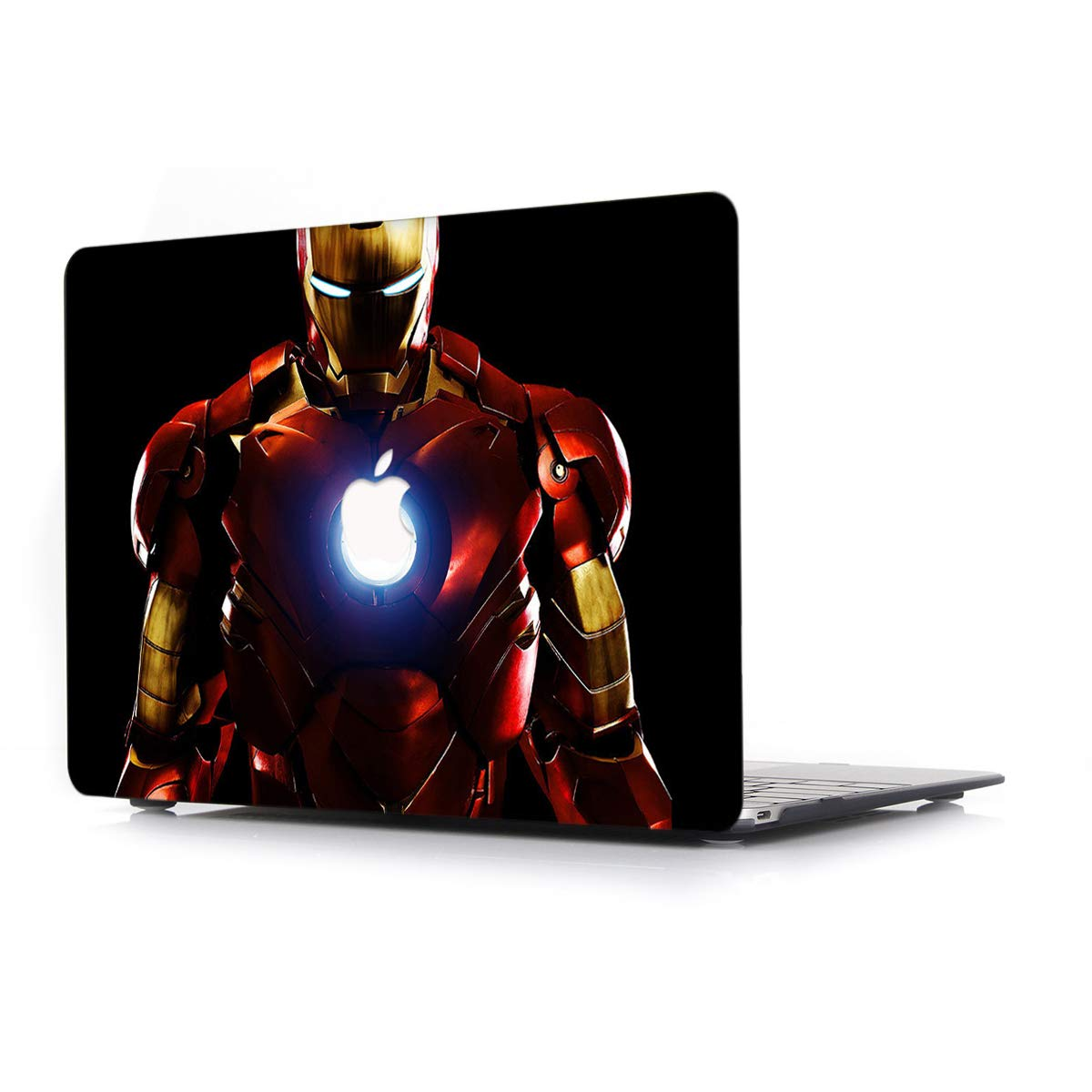 Model A1466//A1369 Old Hard Case for Apple MacBook Air 13.3 Inch L2W Laptop Computers Accessories Plastic Smooth Print Protective Creative Design Cover Iron Man