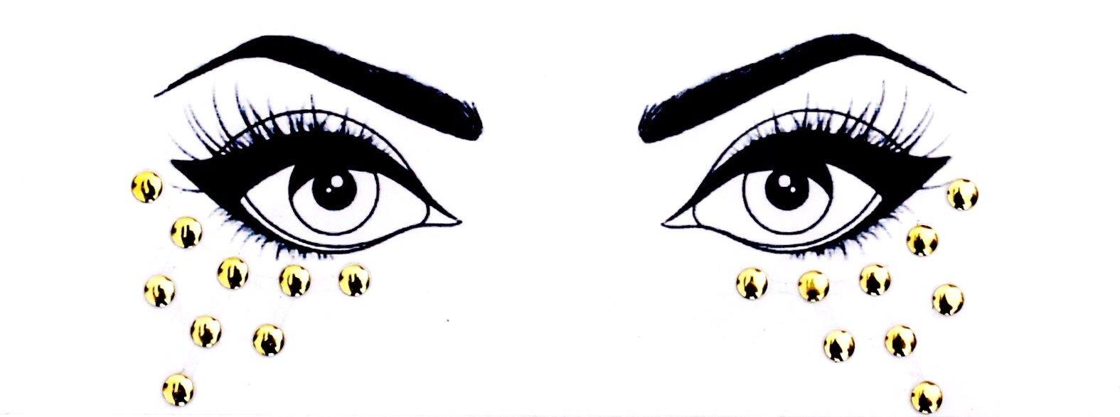Body Bauble - Vega Face Jewels (Gold)