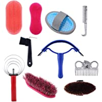 DEWIN Kit de Cuidado de Caballos - Kit de Cuidado de Limpieza de Caballos, Equestrain Brush Curry Comb, Juego de…