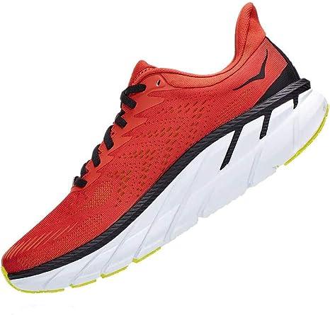 HOKA One One Clifton 7 - Zapatillas para hombre, color rojo: Amazon.es: Zapatos y complementos