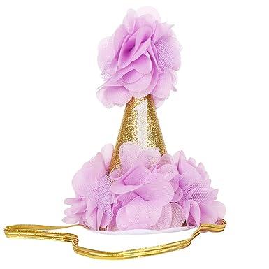 Kapmore Bebé Niñas Sombrero Encantador Cono Flor Diseño ...