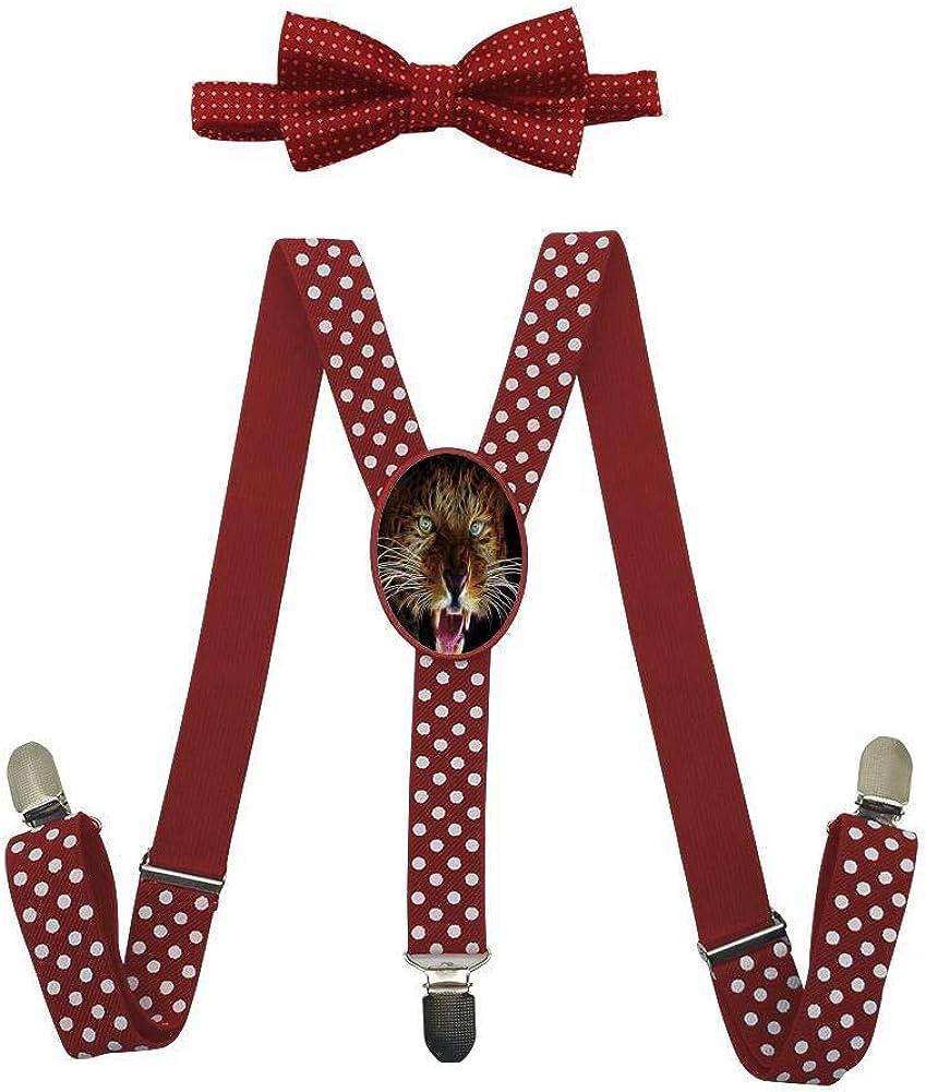 3D Roaring Leopard Childrens Fashion Adjustable Y-Type Suspension Belt Suit