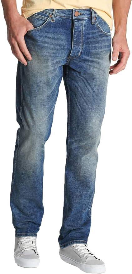 Wrangler Men/'s Jeans Greensboro Regular Straight Navy Blue Easy Rider W30-W40