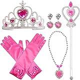 FancyDressWale Princess Elsa Cinderella Rapunzel Dress up Accessories Set for Girls (Rose Red)