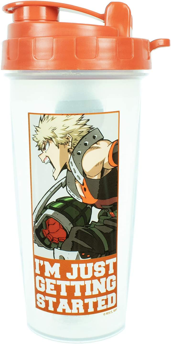 My Hero Academia Workout Gym Protein Shaker Bottle 20oz