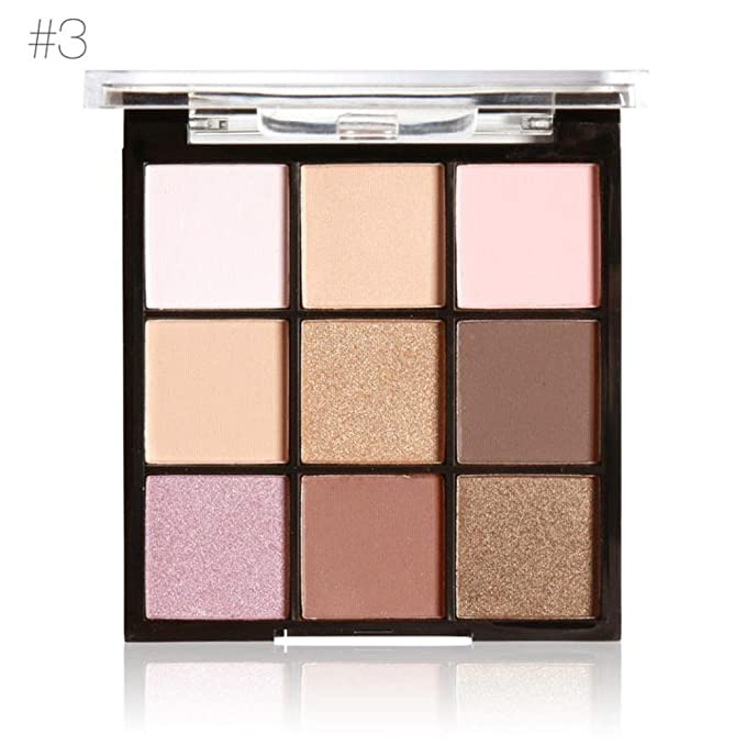 9 Colors Makeup Powder Matte Eye Shadow Palette Highly Glitter Shimmer Pigmented Mineral Cosmetic Eyeshadowt By D-XinXin (C)