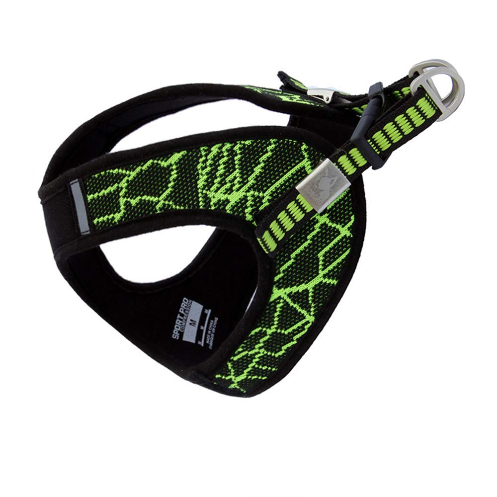Green Small chest (17.3-19.3\ Green Small chest (17.3-19.3\ BgoldRO Escape Free Sport Dog Harness for Dogs That Pulls and Escapes (Small Chest (17.3-19.3 ), Green)