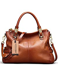 Jack&Chris Women's Genuine Leather Tote Shoulder Handbag, SF0951