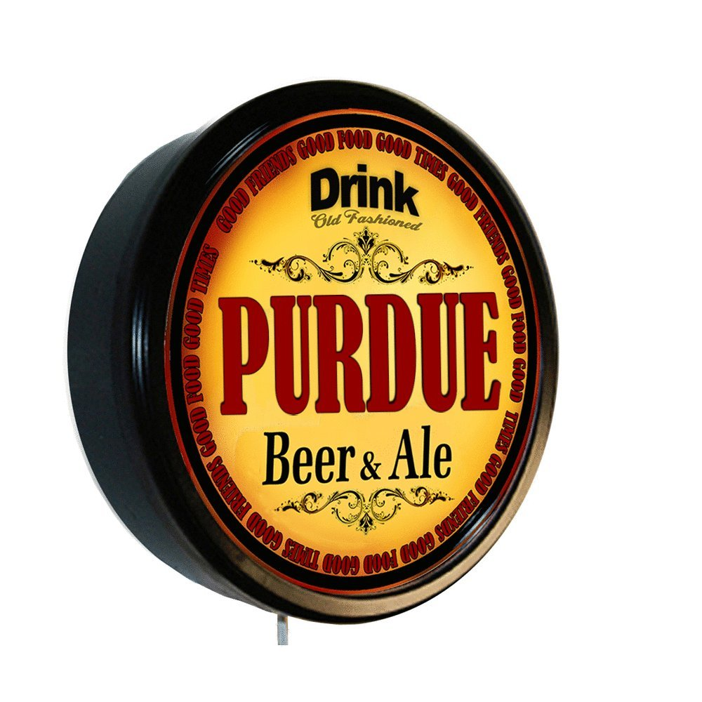 Amazon.com: PURDUE Beer and Ale Cerveza Lighted Wall Sign: Home ...