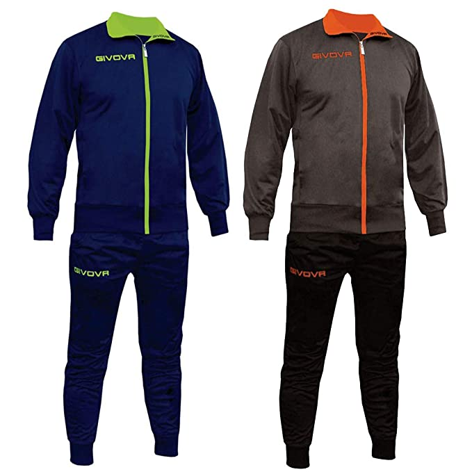 Givova TUTA RELAX TORINO BLU GIALLO FLUO (XL)  Amazon.it  Abbigliamento 525370d1d9e
