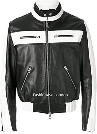 FashionAve London Mens New Motorcycle Jacket 100/% Real Leather