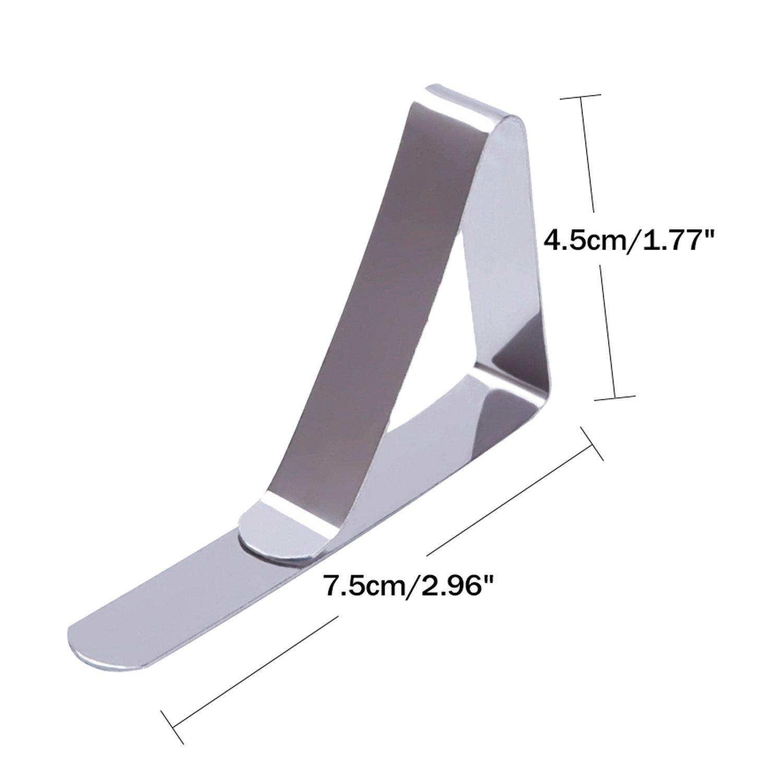 24 Pack Clips de Acero Inoxidable Mantel Pinza para Mantel Cubierta