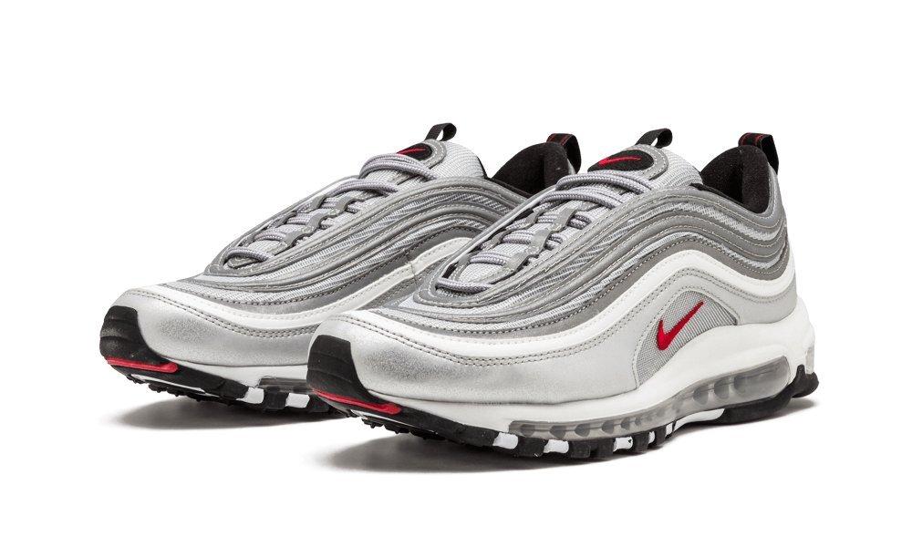 Nike Herren Air Max 97 OG QS Sneaker  40 EU|Silber (Metallic Silver/Varsity Red/Black/White)
