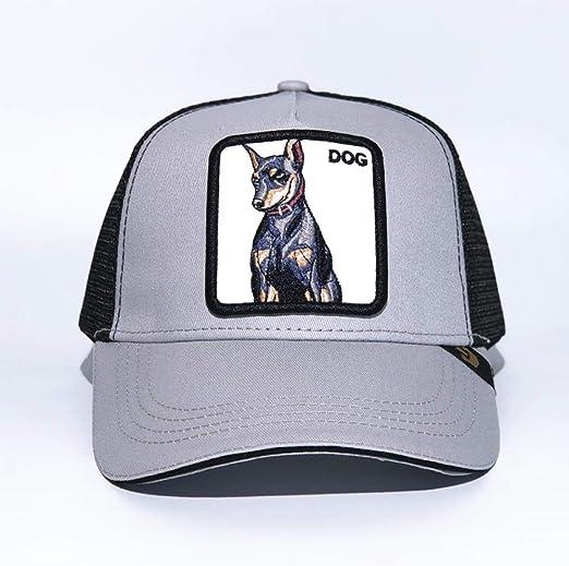yuange Gorra de béisbol Animal Bordado Sombrero de Red, Perro ...