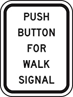 Accuform PUSH BUTTON FOR WALK SIGNAL (FRR465HP)