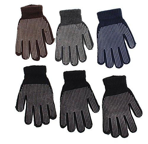 Gilbin Magic-Stretch Gripper Glove, Men Size,6 (Mens Gripper Gloves)