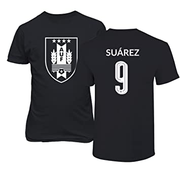 1cd92e7c7 Amazon.com  Tcamp Uruguay 2018 National Soccer  9 Luis SUAREZ World  Championship Men s T-Shirt  Sports   Outdoors